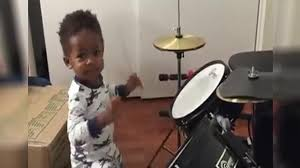 Watch the 1-Year-Old Drummer