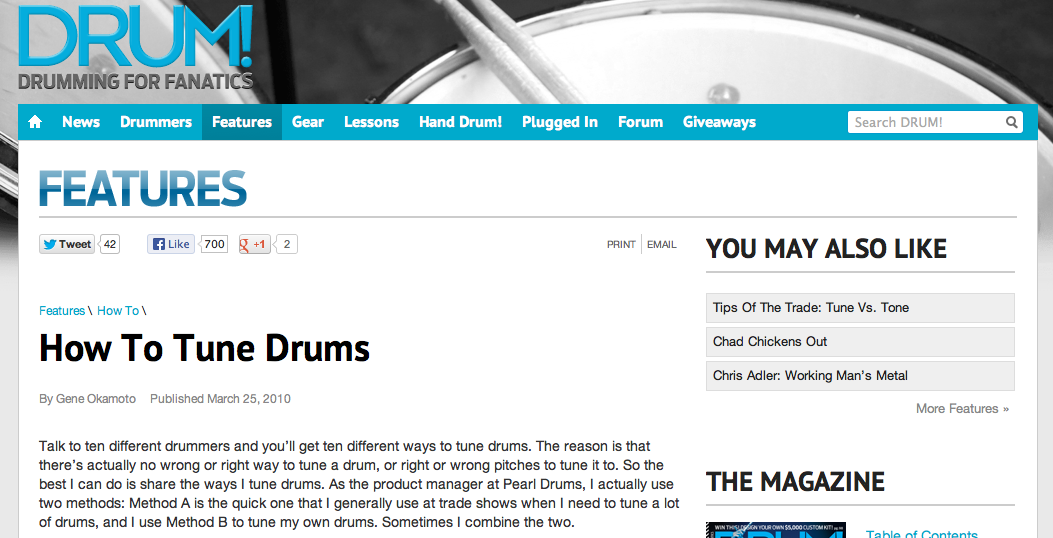 Drum!: How To Tune Drums In Four Steps
