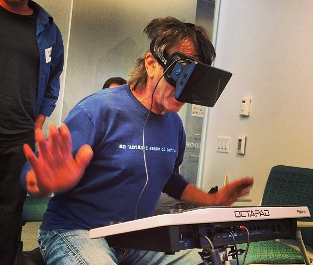 Mickey Hart drums with Oculus Rift