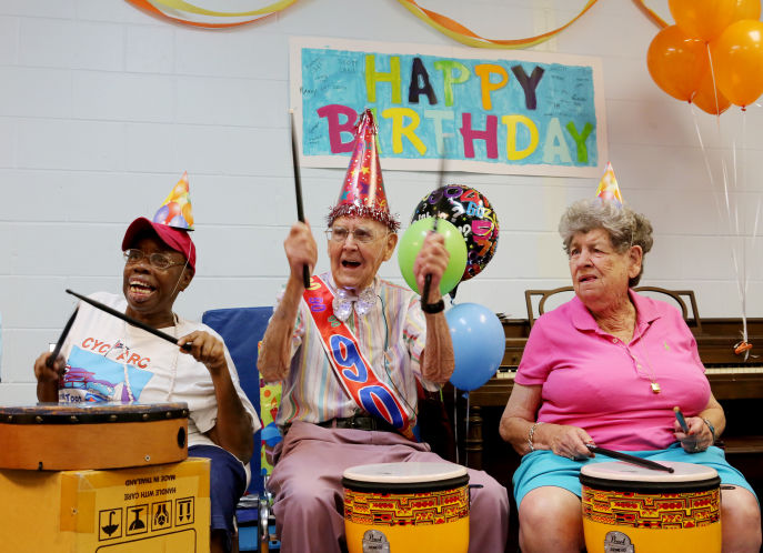 Man Spends 90th Birthday as Volunteer Drummer