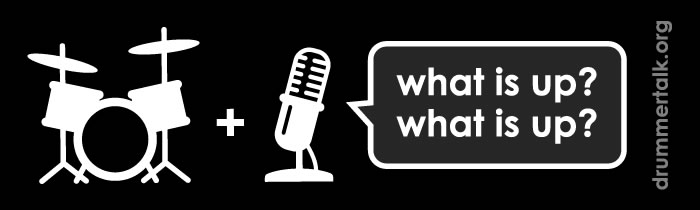 "Going to #PASIC14 this year? Find us and greet us with a ""What is up, what is up?!"" to get your free Drummer Talk sticker!"