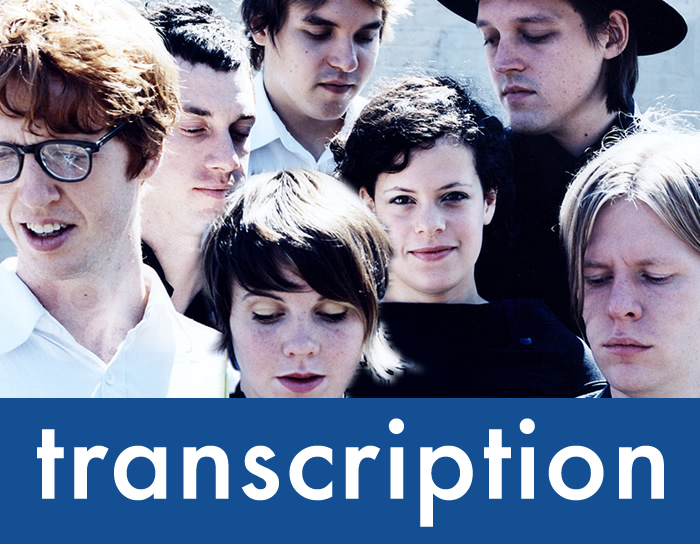 "Transcription – ""No Cars Go"" by Arcade Fire"