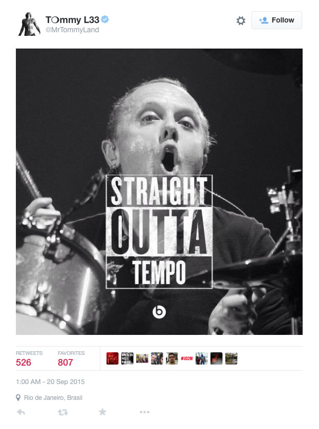 Tommy Lee completely trolls Lars Ulrich on Twitter